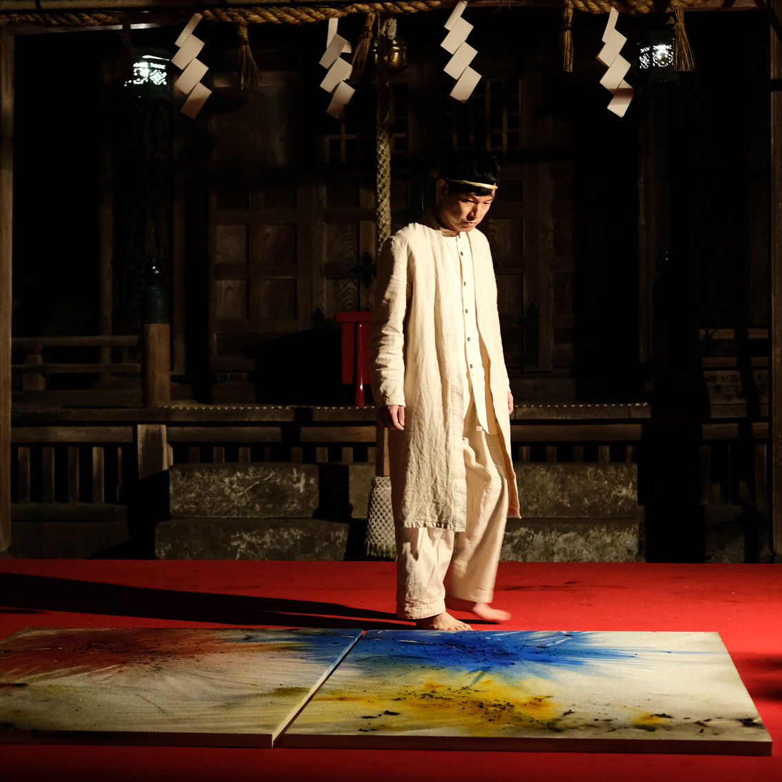 岡太神社/大瀧神社(福井県)での絵画奉納パフォーマンス
